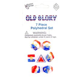 DUNGEONS & DRAGONS KPL 19413 OLD GLORY POLY DICE PACK
