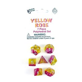 DUNGEONS & DRAGONS KPL 19414 YELLOW ROSE DICE PACK POLY SET
