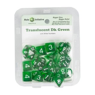 R4I 50112FB GREEN POLY DICE 15 PACK
