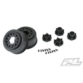 "Proline Racing PRO 278503 Raid 2.2""/3.0"" Black 6x30 Removable Hex SC Wheels"