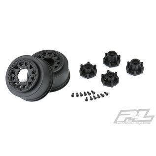"Proline Racing PRO 278503 Raid 2.2""/3.0"" Black 6x30 Removable Hex SC Wheels"