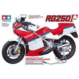 TAMIYA TAM 14029 SUZUKI RG250R WITH FULL OPTIONS MODEL KIT 1/12