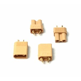 Racers Edge XT30 Connectors (2 pairs)