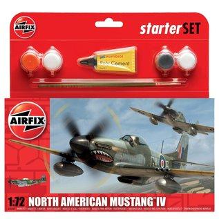 AIRFIX AIR 55107 1/72 Small Starter Set P-51D Mustang
