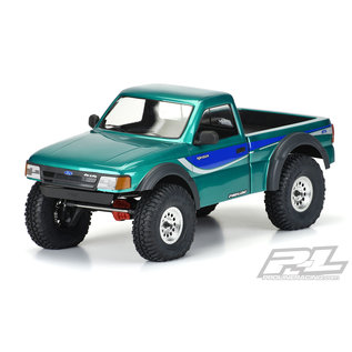 """Proline Racing PRO 353700 1993 FORD RANGER CLEAR BODY WITH SCALE MOLDED ACCESSORIES FOR 12.3"""" (313mm) WHEELBASE SCALE CRAWLERS"""