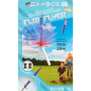 ESTES EST 1418 Flip Flyer Model Rocket Launch Set E2X
