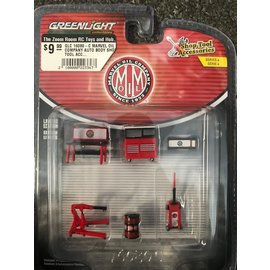 GREENLIGHT COLLECTABLES GLC 16080-C MARVEL OIL COMPANY AUTO BODY SHOP TOOL ACCESSORIES SERIES 4