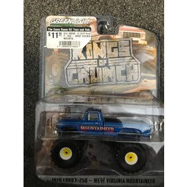 GREENLIGHT COLLECTABLES GLC 49090-E 1979 Ford F-250 - WEST VIGINIA MOUNTAINEER KINGS OF CRUNCH SERIES 9