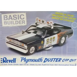 REVELL USA RMX 850853 PLYMOUTH DUSTER COP OUT BASIC BUILDER MODEL KIT