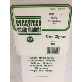EVG 9020 PLAIN SHEET .020 (3 PACK)