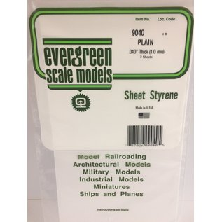 EVG 9040 PLAIN SHEET .040 (2 PACK)
