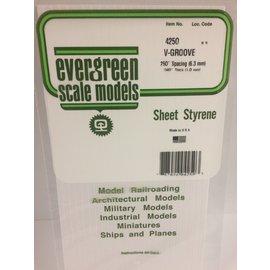 EVG 4250 SHEET VGROOVE EVERGREEN