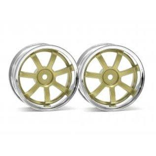 HPI RACING HPI 3319 Rays Gram Lights 57S-Pro Wheel Chrome/Gold (3mm Offset)