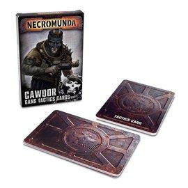 GAMES WORKSHOP WAR 60050599007 NECROMUNDA CAWDOR GANG TACTICS CARDS