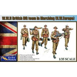 GECKO MODELS GEC 35GM0014 W.W.II BRITISH MG TEAM MARCHING (N.W.EUROPE) 1:35