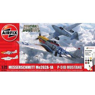 AIRFIX AIR A50183 DOGFIGHT DOUBLES MESSERSCHMITT Me262A-1A / P-51D MUSTANG MODEL KIT