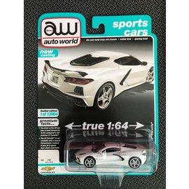AUTOWORLD AW 4553B 2020 CHEVY CORVETTE ARCTIC WHITE