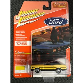 JOHNNY LIGHTNING JLC 4402A 1972 Ford Mustang CONVERTIBLE MEDIUM BRIGHT YELLOW