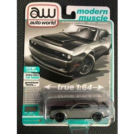 AUTOWORLD AW 4550A 2018 Dodge Challenger SRT DEMON DESTROYER GRAY