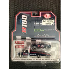 GREENLIGHT COLLECTABLES GLC 51342 ALLAN MOFFAT 1970 FORD F-350 RAMP TRUCK WITH U100 1969 FORD TRANS AM MUSTANG