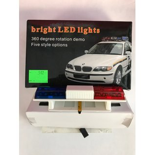 INTEGY INT C24483BLURE POLICE LIGHTS BLUE/RED 1/10