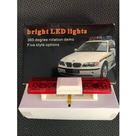 INTEGY INT C24480RED  T3 Realistic Roof Top Flashing Light LED with Plastic Housing for 1/10 Scale