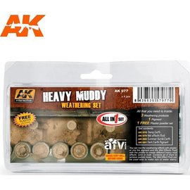 AKI 077 HEAVY MUDDY WEATHERING SET 35ml x4 jars
