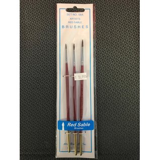 ATL 58A 3 PACK RED SABLE BRUSHES
