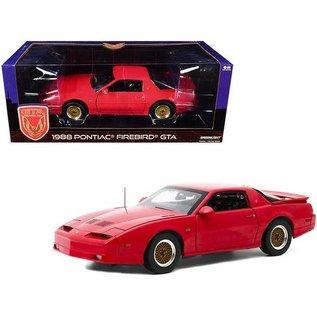 GREENLIGHT COLLECTABLES GLC 13577 1988 PONTIAC FIREBIRD GTA RED DIE-CAST 1/18