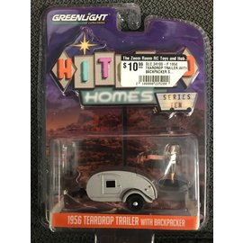 GREENLIGHT COLLECTABLES GLC 34100-F 1956 TEARDROP TRAILER WITH BACKPACKER SERIES 10