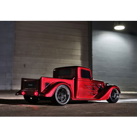 TRAXXAS TRA 93034-4-RED Factory Five '35 Hot Rod Truck: 1/10 Scale AWD Electric Truck with TQ 2.4GHz radio system