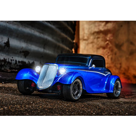 TRAXXAS TRA 93044-4-BLUE Factory Five '33 Hot Rod Coupe: 1/10 Scale AWD Electric Supercar with TQ 2.4GHz radio system