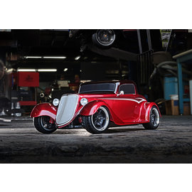 TRAXXAS TRA 93044-4-RED Factory Five '33 Hot Rod Coupe: 1/10 Scale AWD Electric Supercar with TQ 2.4GHz radio system