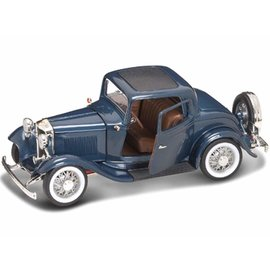 YATMING Y/M 92248-BL 1932 FORD 3-WINDOW COUPE BLUE 1/18 DIE-CAST