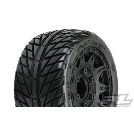 "Proline Racing PRO 1016110 Street Fighter LP 2.8"" Street Tires Mounted on Raid Black"
