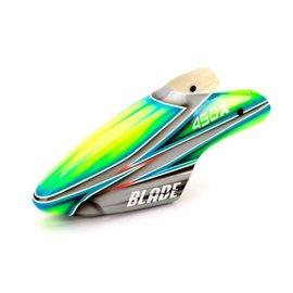 BLH BLH 4381B Fiberglass Canopy, Silver/Green: Blade 450