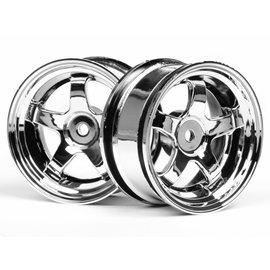 HPI RACING HPI 3591 Work Meister S1 Wheel 26mm Chrm 3mm Offset (2)