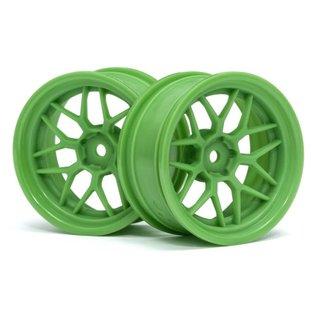 HPI RACING HPI 116531 Tech 7 Wheel Green 52X26X+6mm Offset (2pcs)