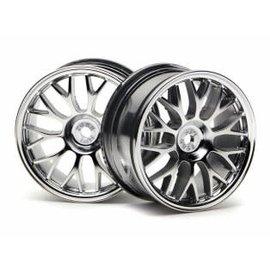 HPI RACING HPI 3712 Mesh Wheel 26mm Chrome (1mm Offset)