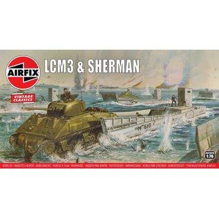 AIRFIX AIR A03301V LCM3 AND SHERMAN MODEL KIT 1/76