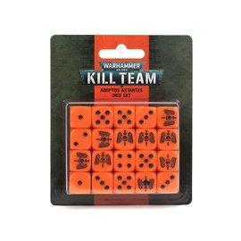 GAMES WORKSHOP WAR 99220101025 KILL TEAM ADEPTUS ASTARTES DICE SET