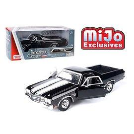 MOTOR MAX MOT 79347AC-BK 1970 CHEVY EL CAMINO SS 396 BLACK/WHITE