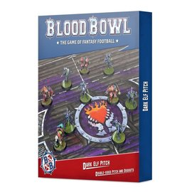 GAMES WORKSHOP WAR 99220912004 BLOOD BOWL DARK ELF PITCH DOUBLE-SIDED PITCH AND DUGOUTS