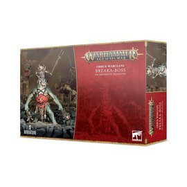 GAMES WORKSHOP WAR 99120209073 AOS ORRUK WARCLANS BREAKA-BOSS ON MIREBRUTE TROGGOTH