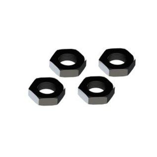ARRMA ARA 310449 Wheel Nut Aluminum 17mm Black (4)