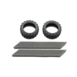 TAMIYA TAM 54861 RC Rally Block Tires, Soft Compound w/ Foam Inserts (2)
