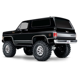 TRAXXAS TRA 82076-4-BLK TRX-4® Scale and Trail® Crawler with 1979 Chevrolet® Blazer Body: 1/10 Scale 4WD Electric Truck. Ready-to-Drive® with TQi™ Traxxas Link™ Enabled 2.4GHz Radio System, XL-5 HV ESC (fwd/rev), and Titan® 550 motor.