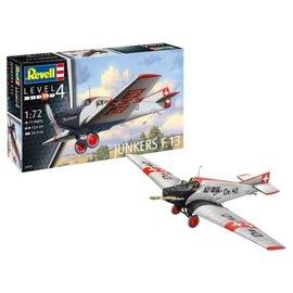 REVELL GERMANY REV 03870 1/72 Junkers F13 Aircraft PLASTIC MODEL