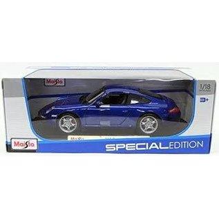 MAISTO MAI 31692B PORSCHE 911 CARRERA S 1/18 DIECAST BLUE