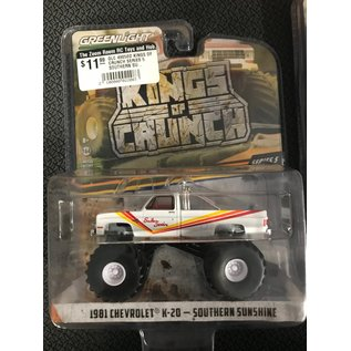 GREENLIGHT COLLECTABLES GLC 49050D KINGS OF CRUNCH SERIES 5 SOUTHERN SUNSHIRE 1981 CHEVROLET K20 1/64 DIECAST